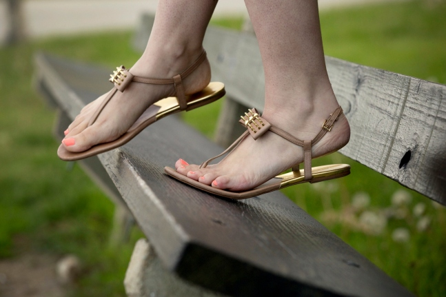 Michael Kors studded bow sandals